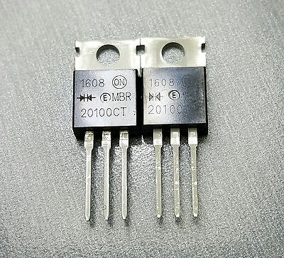 MBR20100CT DIODE ARRAY SCHOTTKY 100V 20A TO220 Pack of 2