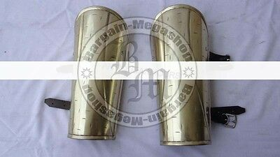 300 Movie King Brass Antique Finish Arm Guard Set Spartan Armoury Nauticals