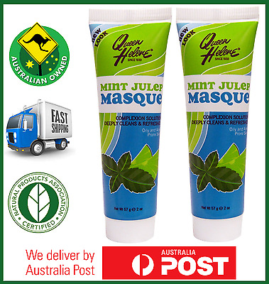 2x Queen Helene MINT JULEP MASQUE - Oily and Acne Prone Skin 227g - AUS STOCK