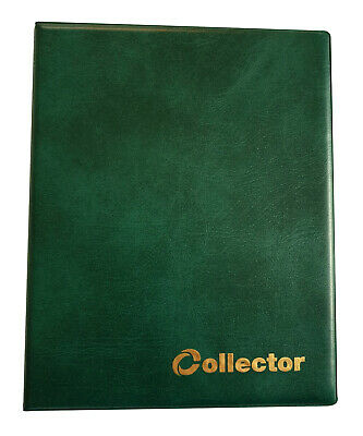 GREEN COLLECTOR HOLDER COIN ALBUM FOR 60 COINS IN COIN Self Adhesive Holders