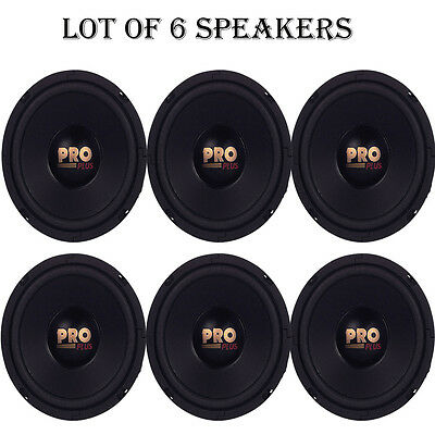 """Lot of 6 NEW Pyramid W64 Woofers 6.5"""" 200W MidBass Poly Woofer Midrange Speakers"""