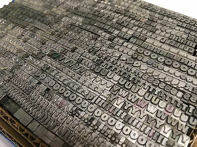 Unknown Font / 12 pt  - Letterpress Type  - Printer's Lead Metal Type