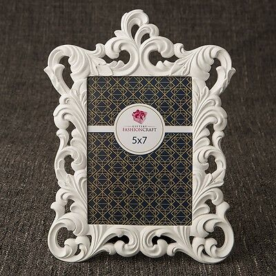 White Baroque 5 x 7 frame from gifts by PartyFairyBox - Gift Favors / FC-12867