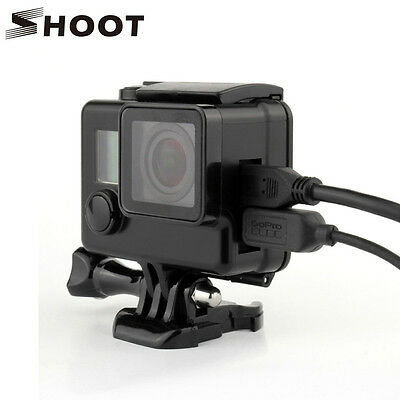 Black Side Opening Protective Skeleton Case Housing Shell for GoPro HD Hero 3+4