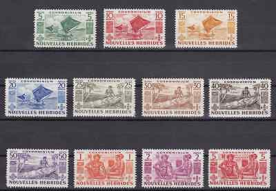 NEW HEBRIDES (FR) - 1953 - Indigenous Images. Complete set, 11v. Mint NH