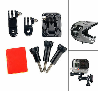 Pro Side Helmet Accessories Kit 3M Adhesive Q-release Mounts for GoPro 5 4 3+3 2