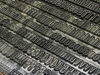 Whedon's Gothic Outline 36 pt - Letterpress Type - Printer's Lead Metal ATF 722