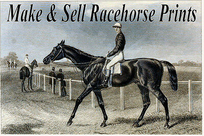 Print & Sell Restored ANTIQUE RACEHORSE PRINTS - High Res., Images on a DVD-Rom