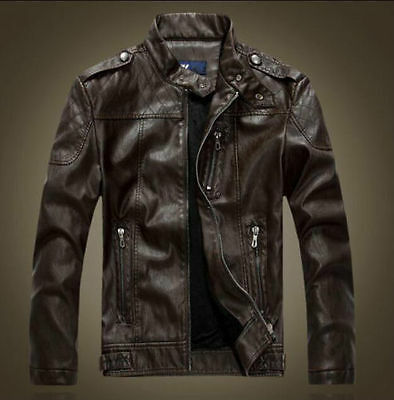Men's Genuine Lambskin Leather Jacket Black Slim fit Biker Motorcycle jacket