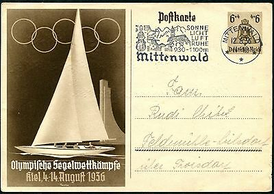 Germany 1936 Mittenwald Olympic Games Postal Stationery (170) Used