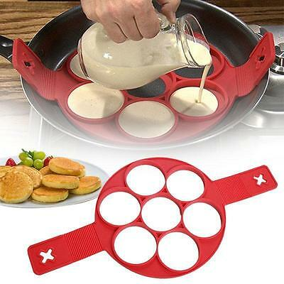 Perfect Non Stick Pancake Pan Flipper Breakfast Maker Egg Omelette Flipjack Tool