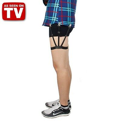 2pcs Mens Stays Holders Shirt Garter Non-Slip Locking Clamps Belt nv TIDY TUCK