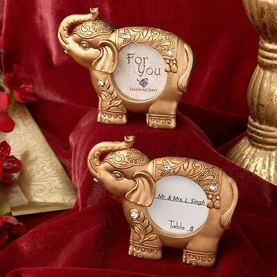 Good luck gold Indian elephant picture frame from PartyFairyBox - Wedding Favors