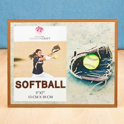 Stunning softball themed Frame 5 x 7 from Gifts By PartyFairyBox - Gift Favors