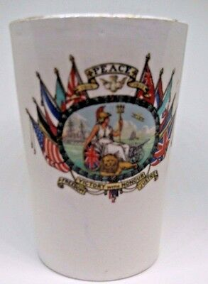 Wwi 1914-19 Historic Peace Signal End Of War Antique Beaker