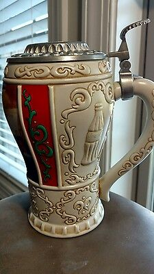 """Good Girls and Boys"" Coca Cola Christmas Stein 1996"