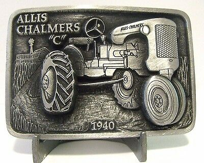 Allis Chalmers C 1940 Tractor Belt Buckle Limited Edition #010 of 250  ac pewter