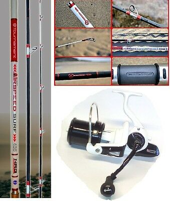 Akios Airspeed 435 Long Cast Surf Rod + Akios Scora 100 Reel _ Combo Deal