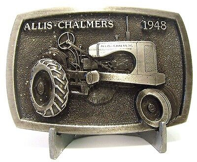 Allis Chalmers WD 1948 Tractor Belt Buckle Limited Edition 250 Made  ac pewter