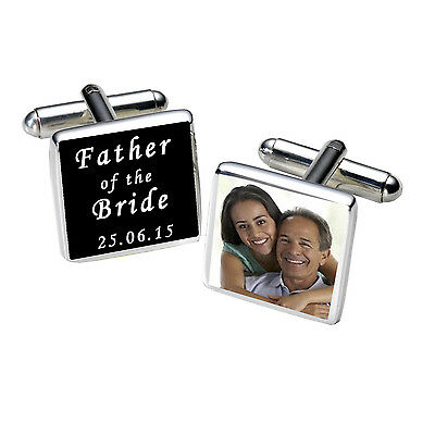 Personalised FATHER OF BRIDE Cufflinks Wedding Party BRIDES DAD Thank You Gift