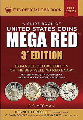 WHITMAN - 2018 MEGA / DELUXE RED BOOK OF US COINS - 3rd EDITION      WH-REDDLX18