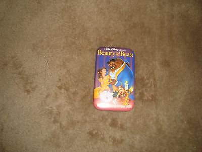Walt Disney Classic Beauty and the Beast Pin Back Button Promo Vintage