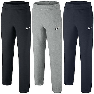 Nike For Kids Sports Running Tracksuit Bottoms Grey Navy & Black Joggers Pants