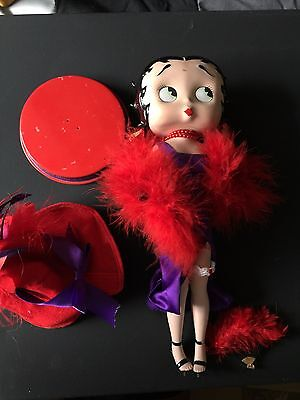 Danbury Mint Betty Boop Over Fifty & Fabulous Red Hat Society Porcelain No box