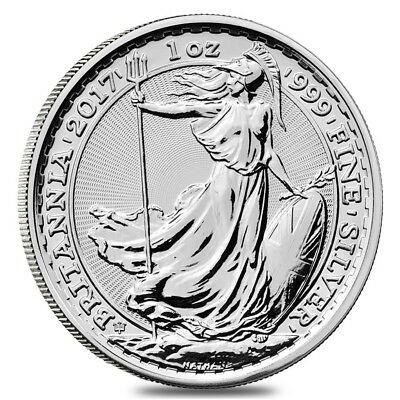 2017 Great Britain 1 oz Silver Britannia 20th Anniversary Privy Coin .999 Fine B
