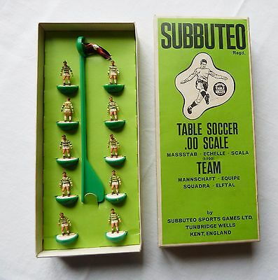 Subbuteo Calcio Fc Celtic Glasgow + Box C100 Ref.25 Table Soccer *vedi  Foto