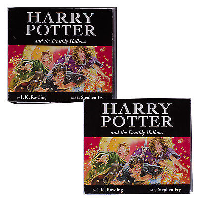 Harry Potter and The Deathly Hallows Audio Book 20 CD's Read by Stephen Fry