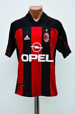 Size M Ac Milan Italy 1999/2000 Home Football Shirt Jersey Maglia Adidas