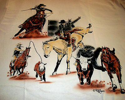 "American Sport Horse T-shirt  "" Natural "" 2XL ( 50 ~ 52 )"
