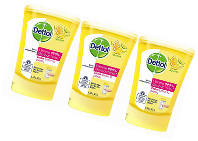 Dettol Sapone Refill No Touch Citrus 250 ml - Set di 3