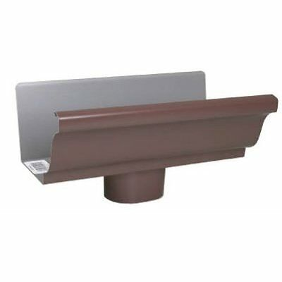 AMERIMAX HOME PRODUCTS 2501019 5-Inch Aluminum End/Drop, Brown