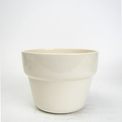 Vintage Bauer Pottery USA White Flower Pot Shaped Planter