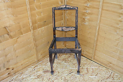 Set Of 3 Solid Wooden Antique Chairs For Restoration Project