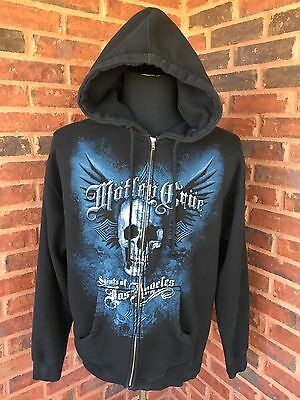 MOTLEY CRUE Saints Of Los Angeles mens Sz L zip up hooded sweatshirt Hoodie