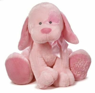 Baby Ganz My First Puppy Pink Plush 22 Inches Jumbo Soft Stuffed Animal Toy NWT