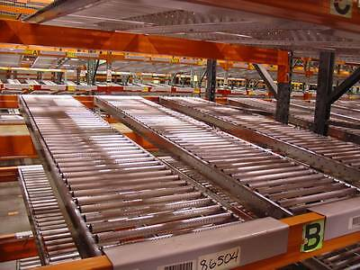 """Span Track Gravity Carton Flow Commercial Shelve Tracking 92""""x12"""" w/ Hangers"""