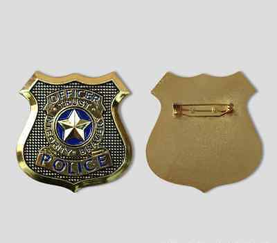 Zootopia Rabbit Judy Hopps Police Officer Badge Metal Cosplay Props Brooch Gold