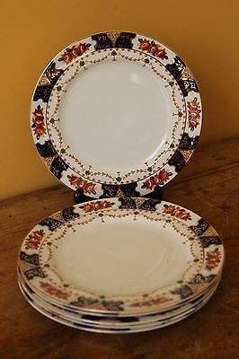 Antique Imari cake plates, Wood & Sons, Early 1900's.