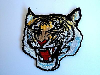 1x Tiger Roar Patch Embroidered Patches Cloth Applique Badge Iron Sew On