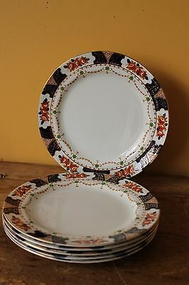 Antique Imari lunch plates, Wood & Sons, Early 1900's. Set of six.