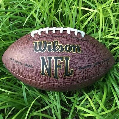 American Football Rugby Adult Leather Ball Outdoor Sport NFL Team Training Match