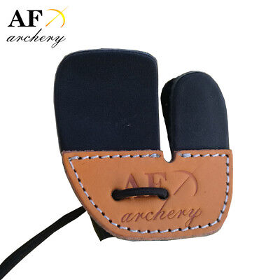 Safari Choice Archery Leather Finger Protector Tab Guard Right Hand