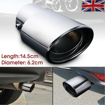 Universal Chrome Stainless Steel Car Rear Exhaust Muffler Pipe Tail Trim Tip -UK