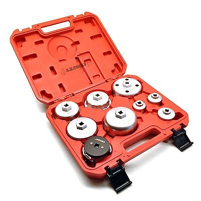 """3/8"""" Drive Oil Filter Cup Type Wrench Remover Removal Installer Tool 9pc Set"""