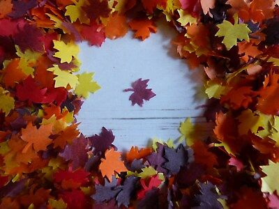3 Litres of Autumn/Fall Tissue Maple Leaves Wedding Party Confetti Decoration