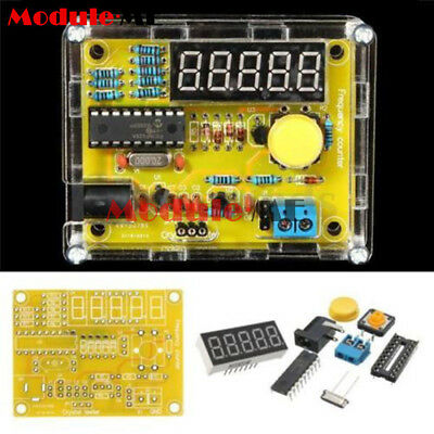 DIY Kits 1Hz-50MHz Crystal Oscillator Tester Frequency Counter Meter Case MO